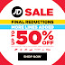 JD Sports (MY): Final Reductions! Up To 50% Off