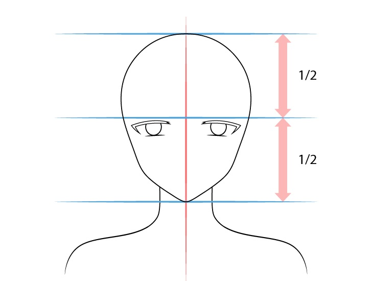 Gadis anime elf mata miring luar menggambar