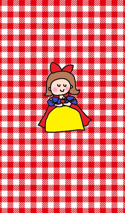 princess x red check