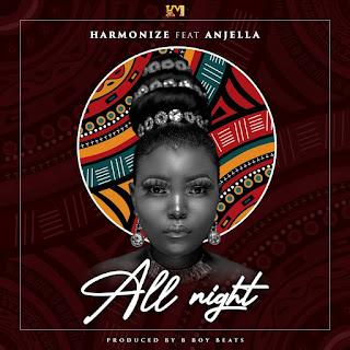 Harmonize Ft Angella - All Night | Lyrics Video