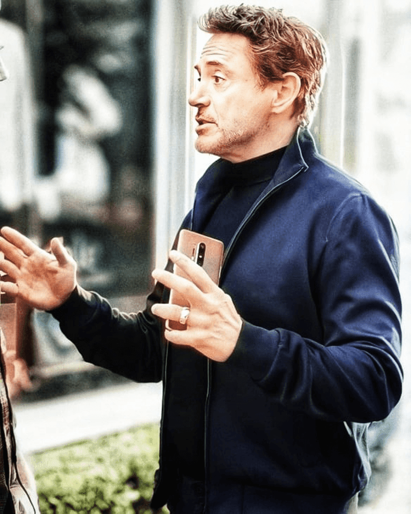 Iron Man actor Robert Downey Jr. spotted with the alleged OnePlus 8 Pro