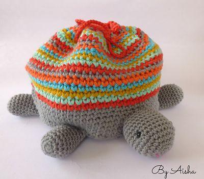 bolsa crochet tortuga