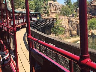 Disneyland Railroad Crossing the Rivers of America