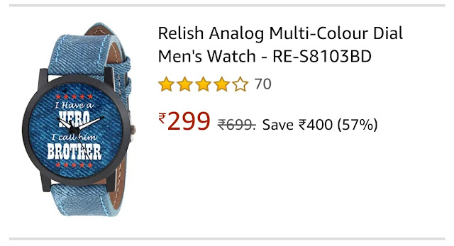 Bhai Dooj Gifts Online For Brother Wrist Watch