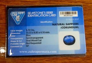 Batu Permata Royal Blue Safir - ZP 261