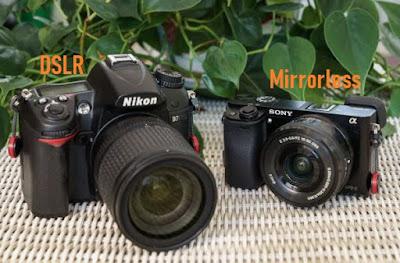Perbedaan Kamera DSLR dan Kamera Mirrorless