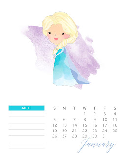Princesas Disney: Calendario 2020 para Imprimir Gratis.