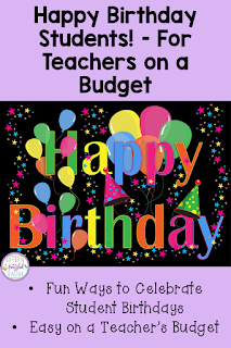 Celebrating student birthdays can become a HUGE expense for teachers! This blog post shares tips and tricks to keep the costs down while making sure each child feels special on their important day. From birthday books to gifts, lots of ideas are shared! #confessionsofafrazzledteacher #birthdays {Student Birthdays, Classroom Tips, Kindergarten, First, Second, Third, and Fourth Grade, K, 1, 2, 3, and 4}