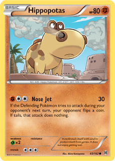 Hippopotas BREAKthrough Pokemon Card