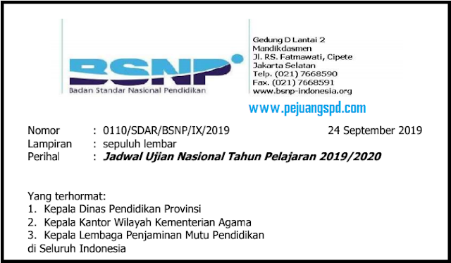 Jadwal UN Tahun Ajaran 2019/2020: SMA/SMK SMP/MTS