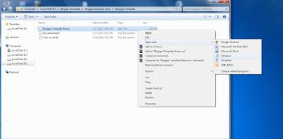 buka file template