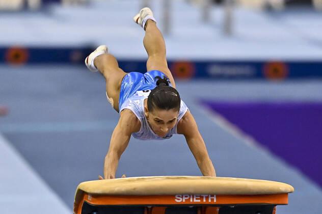 Oksana Chusovitina na Copa do Mundo de Doha 2021