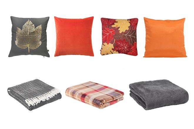 koce i poduszki na jesien