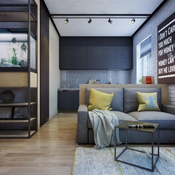 Trang trí căn hộ chung cư diện tích vừa và nhỏ: tạo vách ngăn phân chia không gian