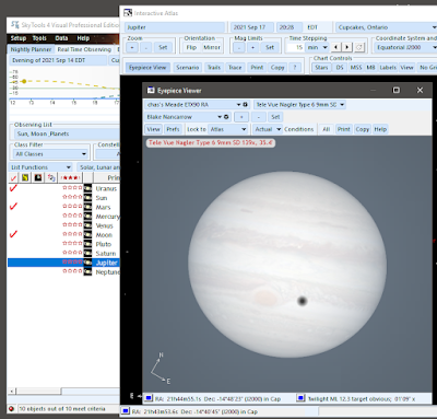 shadow and spot according to SkyTools