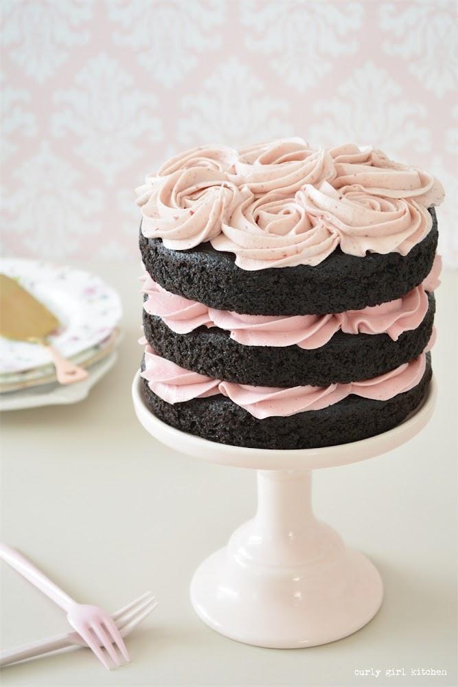 Naked Chocolate Cake, Naked Wedding Cake, Rosette Cake, Chocolate Raspberry Cake, High Altitude Chocolate Cake, Cake Decorating Ideas, Cake Photography, Cake Styling, Simple Wedding Cake