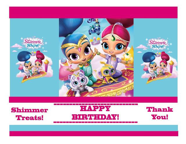 Fiesta de Shimmer y Shine: Mini Kit para Imprimir Gratis.