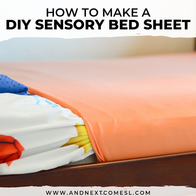 DIY compression sheet: how to make a lycra bed sheet for kids with autism or sensory processing disorder