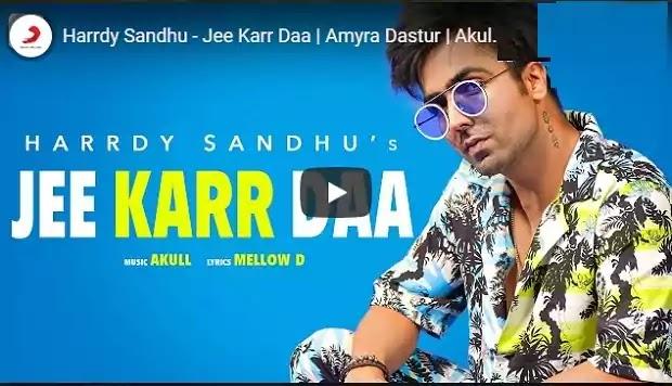 हो नचने दा जी कर दा Ho Nachane Da Jee Karr Daa Lyrics in hindi-Harrdy Sandhu