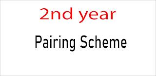 2nd year pairing scheme 2021