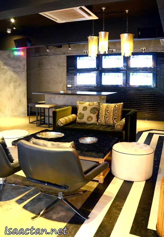 The cozy lounge at the ground floor of NAKED Restaurant