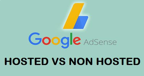 Difference between hosted and non-hosted AdSense account techzubi