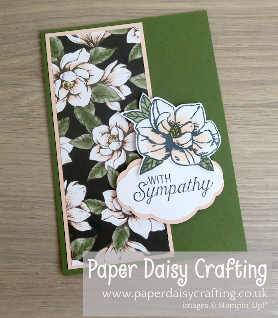 Magnolia Blooms Sympathy card Stampin Up