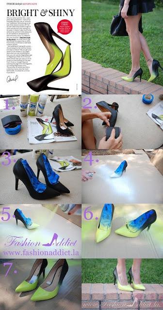 Neo Mint nos sapatos