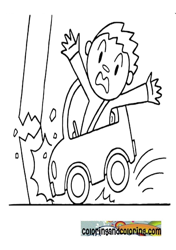 Car accident coloring page sketch coloring page for Car crash coloring pages
