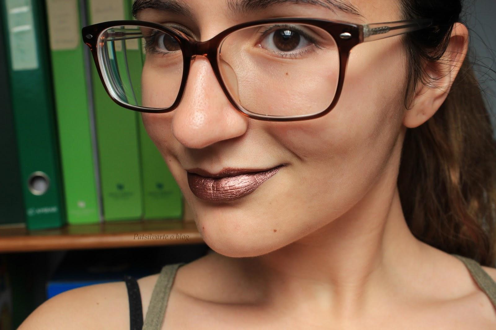 matte metalic lipstick Primark patsilvarte review
