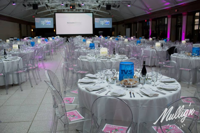 Gare Windsor, InfoPresse PrixMedia Gala, table setting and decoration of gala, journal Metro newspaper