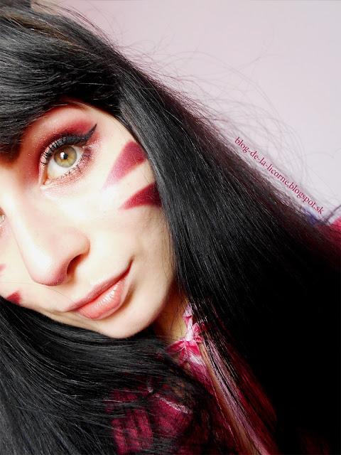 D.va Overwatch Burgundy Makeup Inspiration