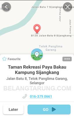 Waze Lokasi Taman Rekreasi Paya Bakau Sijangkang