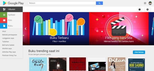 Halaman Google Play Buku
