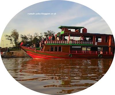 perahu yang di sewa wisman