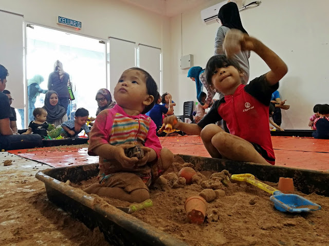 sensory messy play open house event space penang dr nurhaya lactation centre
