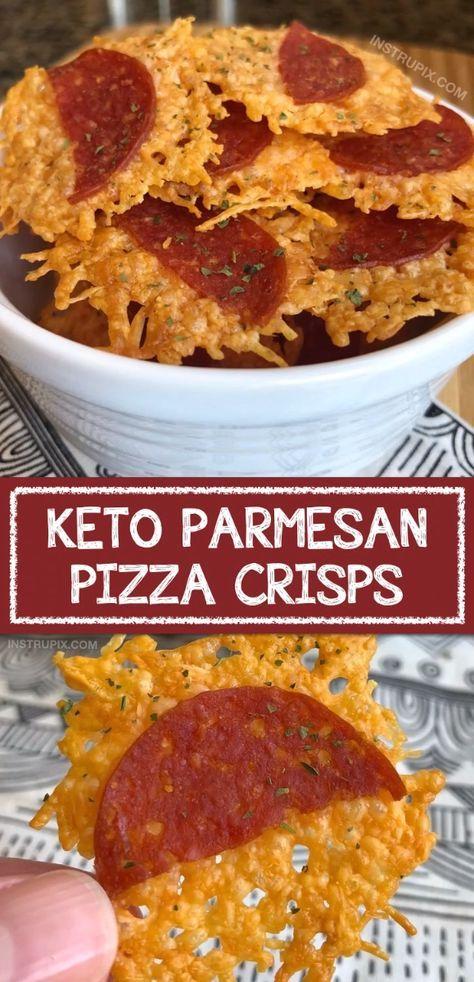 """Keto Parmesan """"Pizza"""" Crisps (2 Ingredients!)"""