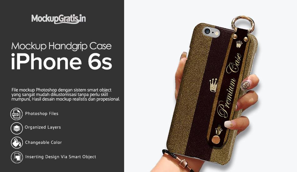 PSD Mockup Handgrip Case iPhone 6s