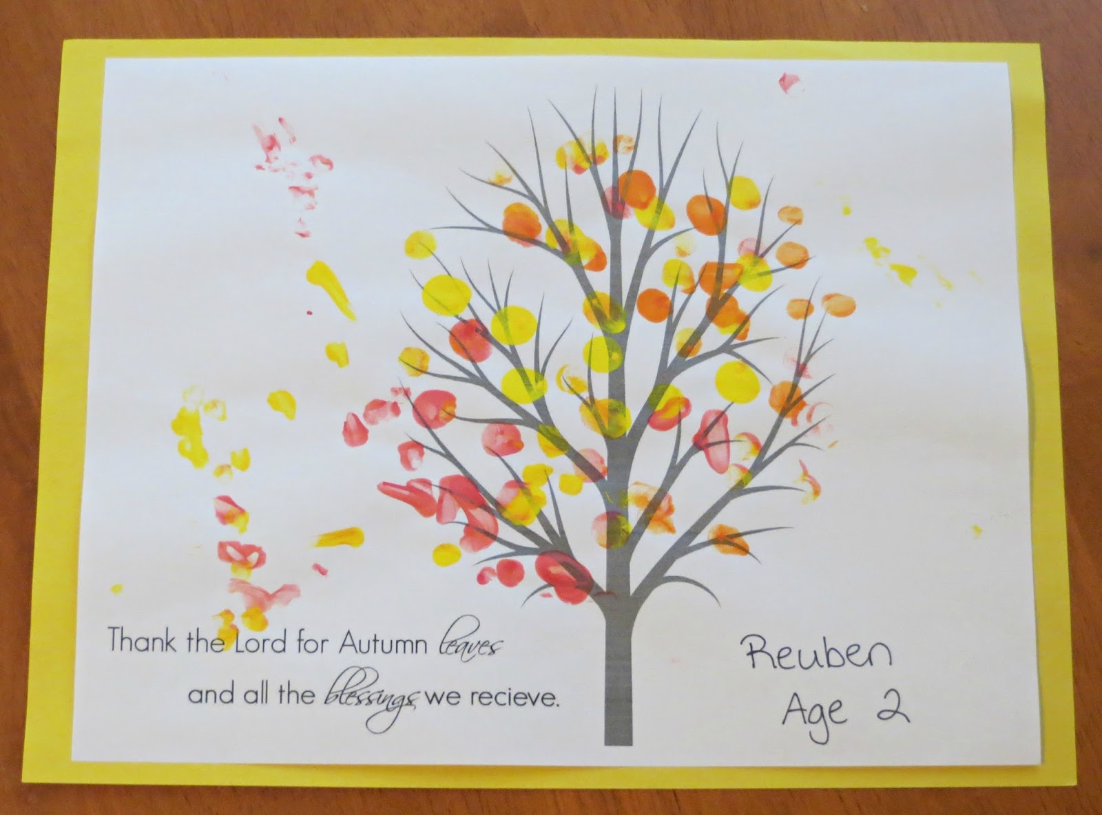 Proverbs And Pacifiers Easy Fall Leaves Finger Painting