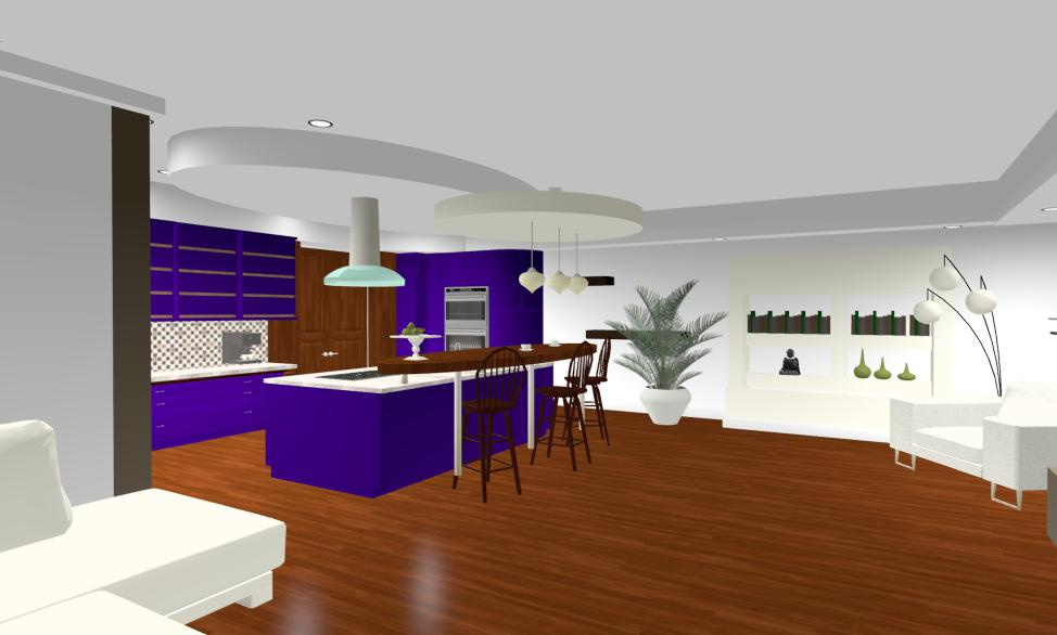 Design interior living cu bar