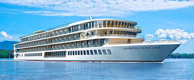 American Cruise Line Launches American Jazz Ahead of Schedule at Chesapeake Shipyard in Maryland.