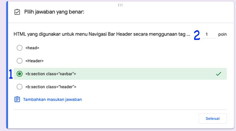 Cara Membuat Kuis Online Menggunakan Iframe dan Google Form membuat Distraktor