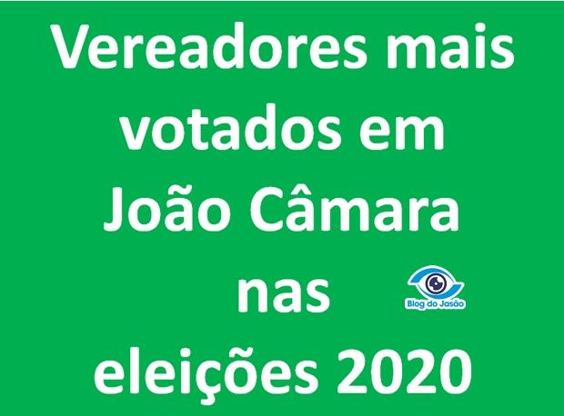 Eleições 2020: Confira a votação de todos os candidatos a vereador em João Câmara