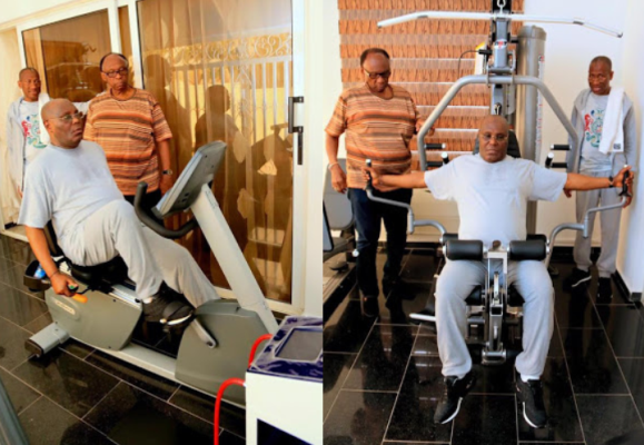 Former VP, Atiku Abubakar shares workout photos