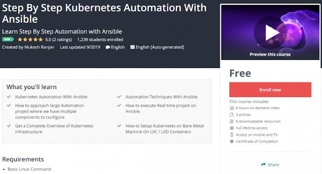 [100% Free] Step By Step Kubernetes Automation With Ansible
