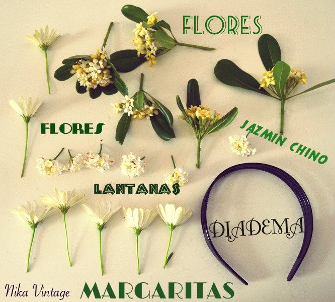 diadema flores, adorno floral, diy, diadema romantica, hazlo tu mismo
