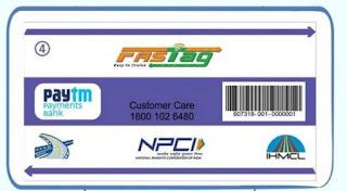 paytm fastag card