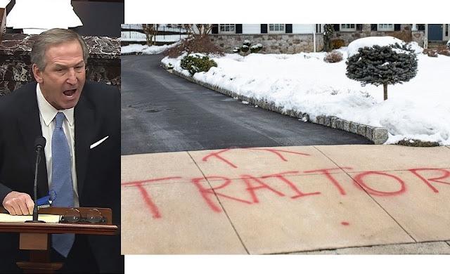 Donald Trump's lawyer Michael van der Veen's home vandalized with Graffiti