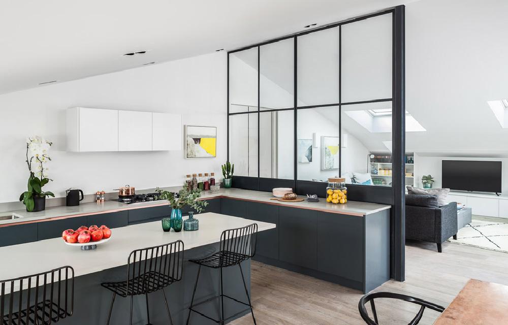 Separare visivamente la cucina dal living | Dettagli Home Decor