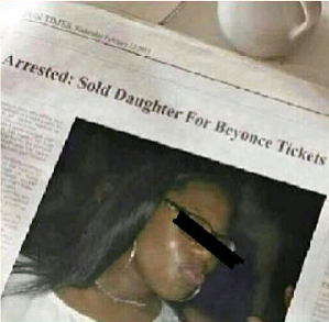 woman sells baby beyonce tickets